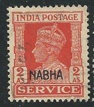 India - Nabha      Scott # O46 - Used