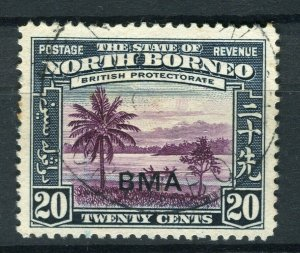 NORTH BORNEO; 1945 early Pictorial BMA issue fine used 20c. value, Postmark