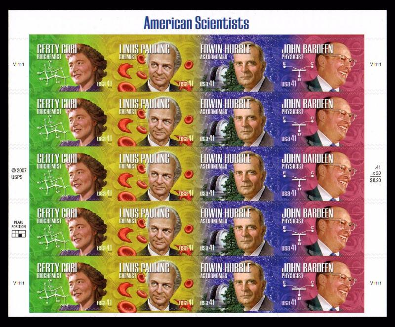 # 4224-4227  American Scientists 41¢ Sheet   MNH