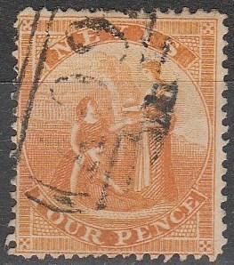 Nevis #10 F-VF  Used CV $25.00 (A16729)