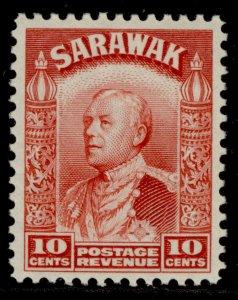 SARAWAK GV SG113, 10c scarlet, M MINT.