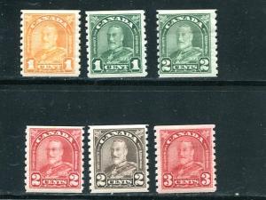 Canada #178-83    Mint  F-VF+