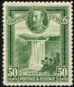 British Guiana SC# 218 Kaieteur Falla 50c Mint Lightly hinged