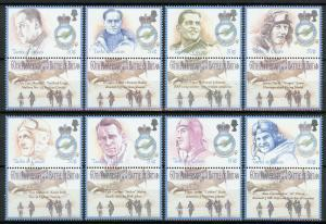 Turks & Caicos 2000 MNH WWII WW2 Battle of Britain  8v Set Aviation Stamps