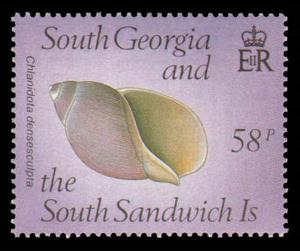 SOUTH GEORGIA #127-130 COMPLETE SET MINT NEVER HINGED