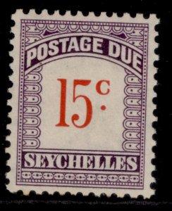SEYCHELLES GVI SG D5, 15c scarlet & violet, M MINT.