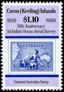 Cocos Islands #203-206, Complete Set(4), 1989, Aviation Related, Never Hinged