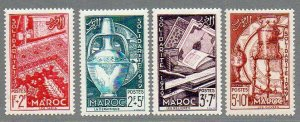 French Morocco: 1950 Solidarity Fund set (4) SG 375-8 mint