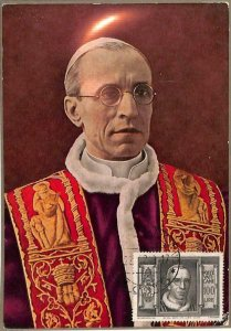 90077 -  VATICAN - Postal History -  MAXIMUM CARD -  POPE PIO XII Religion 1949