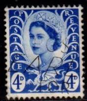 Great Britain - Wales - #8 Queen Elizabeth (Unwmk) - Used