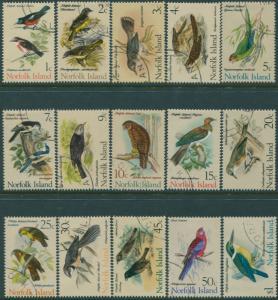 Norfolk Island 1970 SG103-117 Birds set FU