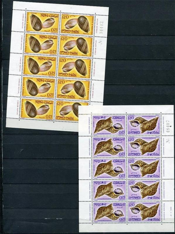 Morocco  1965 6 Sheets of 10, Five Tete-beche pairs in every Sheet CV$83 mor1022