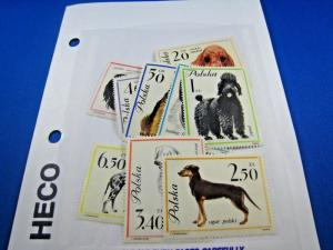 POLAND - TOPICAL STAMPS - DOGS - SCOTT #1115-1123 MNH     (br)