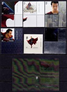 Jersey MNH - Superman Henry Cavill set and S/S - 2013