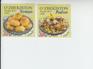 2018 Uzbekistan National Cuisine (2) (Scott 843-44) MNH