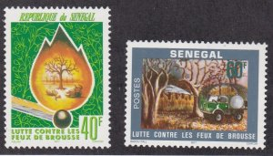Senegal # 446-447, Forest Fire Prevention, NH, 1/2 Cat.