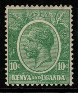 KENYA, UGANDA & TANGANYIKA SG79 1922 10c GREEN MTD MINT