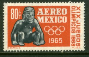 MEXICO C309, 80¢ 1st Pre-Olympic Issue - 1965. MINT, NH. VF.