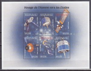 Malagasy Rep. 2000 issue. Space Satellites sheet of 6. ^