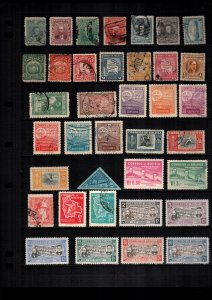 Bolivia  MH  and used lot of 33
