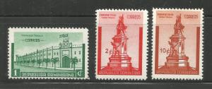 DOMINICAN REPUBLIC, 366-368, MINT HINGED, STATUE, FORTRESS, CIUDAD TRUJILLO