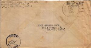 United States Marine Corps Soldier's Free Mail 1946 U.S. Navy Marine Service ...