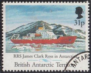 British Antarctic Territory 1991 used Sc #186 31p RRS James Clark Ross