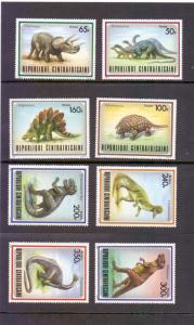 Central African Republic 1988 MNH dinosaurs complete