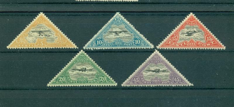 Estonia - Sc# C14-8. 1925 Air Mails. Complete MNH $11.00.