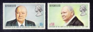 Seychelles Sc# 321-2 MNH Churchill Centenary