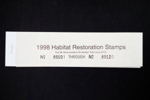 US 1998 South Dakota Habitat Restoration Stamp Booklet