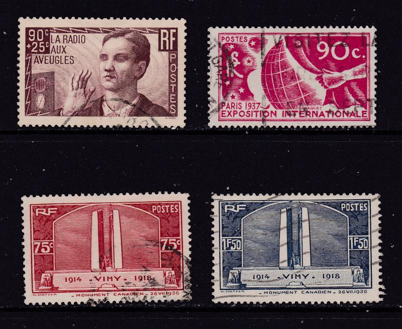 France x 4 good cv early comm/charity used