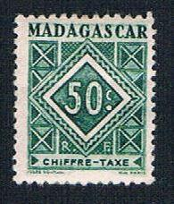 Madagascar J33 MLH Postage Due Numeral (BP1428)