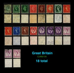 GREAT BRITAIN Mix 18 total ~ CLR90139