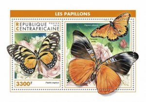 HERRICKSTAMP NEW ISSUES CENTRAL AFRICA Butterflies S/S