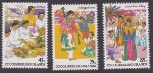 Cocos Islands # 108-110, Festive Occassions, NH, 1/2 Cat.