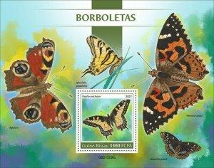 Guinea-Bissau - 2021 Butterflies, Swallowtail - Stamp Souvenir Sheet - GB210206b