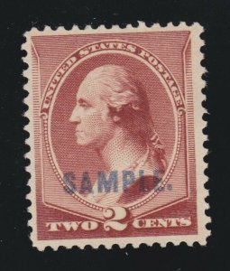 US 210SK 2c Washington Red Brown Specimen VF NG SCV $75