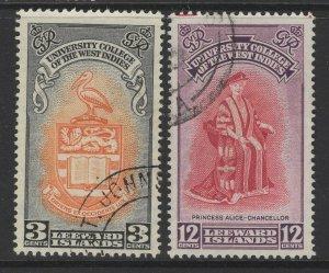 LEEWARD ISLANDS SG123/4 1951 BWI UNIVERSITY COLLEGE FINE USED