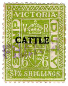 (I.B) Australia - Victoria Revenue : Cattle Duty 6/-