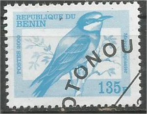 BENIN 2000, used 135fr, Birds Scott