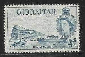 GIBRALTAR 137, MINT HINGED, OCEAN LINER