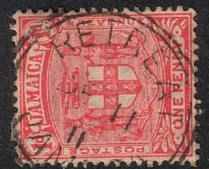 JAMAICA 1911 1d RETREAT cds................................................17158