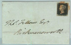 BK0659 - GB Great Brittain - POSTAL HISTORY - PENNY BLACK  on COVER  July 1840