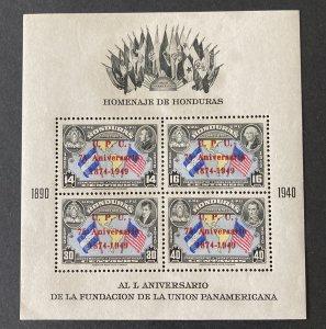 Honduras 1949 C187 S/S, MNH(see note), CV $8