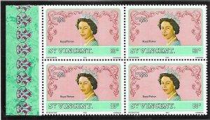 ST.Vincent #599  *80c  London '80l   (MNH) block CV$1.50