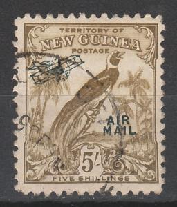 NEW GUINEA 1932 UNDATED BIRD AIRMAIL 5/- USED/CTO