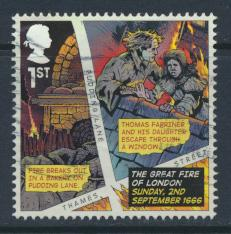 Great Britain SG 3879 Used   Anniv of Great Fire of London     SC# 3540