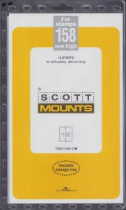 Scott / Prinz Pre-Cut 158 High Strips 215mm Long Stamp Mounts 215x158 Clear