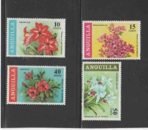 ANGUILLA #70-73  1969  FLOWERS   MINT VF LH  O.G